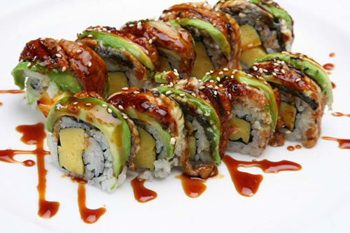 Fried Dragon Roll House Special Rolls - ...